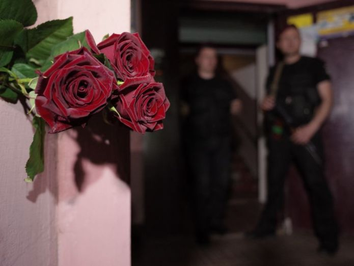Flowers have been left at the apartment building where Mr Babchenko was shot 'dead' kremlin critic arkady babchenko appears at news conference 'Dead' Kremlin critic Arkady Babchenko appears at news conference skynews arkady babchenko journalist 4324005