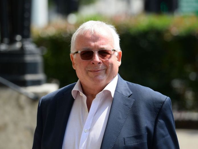 Christopher Biggins at the funeral David Walliams and Graeme Souness among mourners at service David Walliams and Graeme Souness among mourners at service skynews christopher biggins 4317364