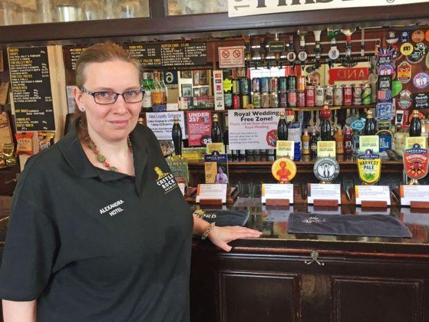 Landlady Anna Dyson-Edge at The Alexandra Hotel in Derby