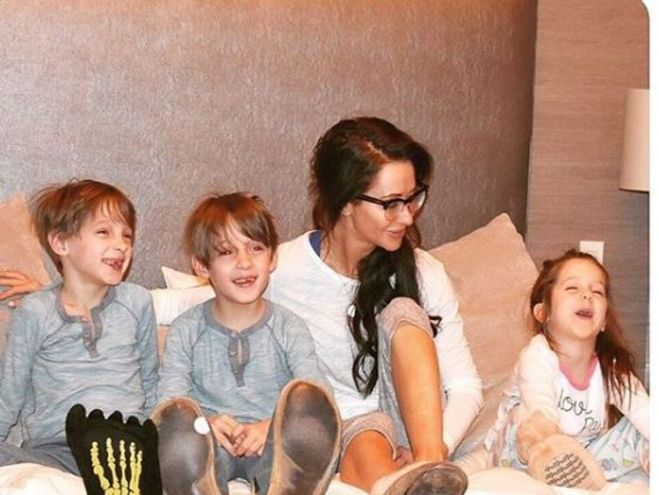 Jessica Mulroney with her children. Pic: Instagram