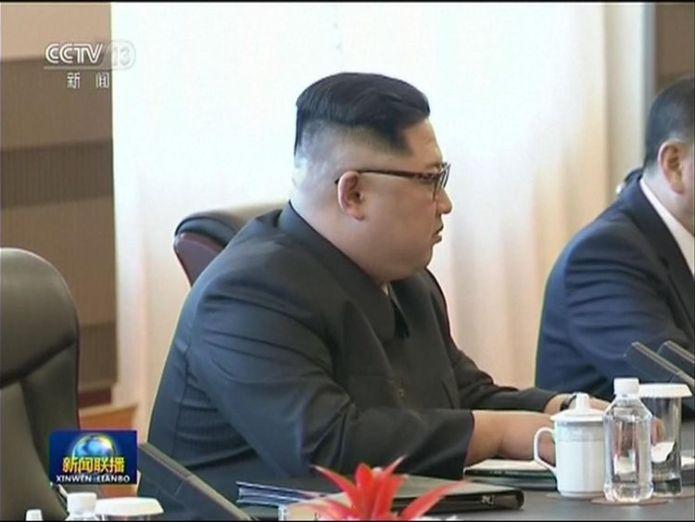 Kim Jong Un meets Xi Jinping kim jong un meets president xi jinping in china Kim Jong Un meets President Xi Jinping in China skynews kim jong un xi jinping 4303923
