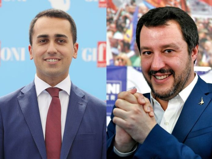 Luigi Di Maio, left, and Matteo Salvini say 'conditions have been met' Italy's markets recover amid calmer political waters Italy's markets recover amid calmer political waters skynews luigi di maio matteo salvini 4325130