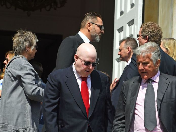 Matt Lucas (centre) leaves Old Church David Walliams and Graeme Souness among mourners at service David Walliams and Graeme Souness among mourners at service skynews matt lucas dale winton 4317426