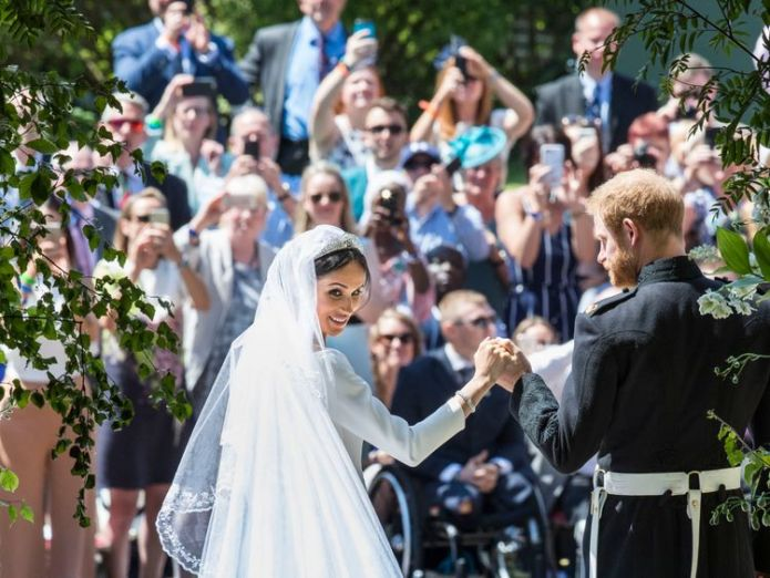 The Duke and Duchess of Sussex on the steps of St George's Chapel  Meghan's nephew Tyler Dooley warned by police over nightclub knife Meghan's nephew Tyler Dooley warned by police over nightclub knife skynews meghan markle prince harry 4314912
