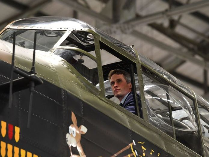 Defence Secretary Gavin Williamson looks out of the cockpit of an Avro Lancaster bomber during a visit to RAF Coningsby, where he announced that the multi million pound F-35 stealth fighter jets will start arriving at RAF Marham, Norfolk, early next month. UK 'must come clean' over airstrikes in Syria, says Amnesty International UK 'must come clean' over airstrikes in Syria, says Amnesty International skynews raf royal navy gavin williamson 4311588