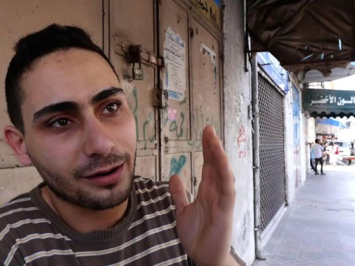 Rajaee El Jaro, is a musician and owns a shop in Gaza selling musical instruments and camera equipment The fight to leave the 'open air prison' of Gaza The fight to leave the 'open air prison' of Gaza skynews rajaee el jaro palestinian 4315889