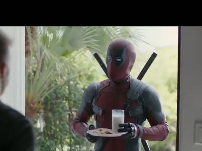 Deadpool tried to apologise to David Beckham with milk and cookies Deadpool sorry for joking about Beckham's voice Deadpool sorry for joking about Beckham's voice skynews ryan reynolds david beckham 4306325