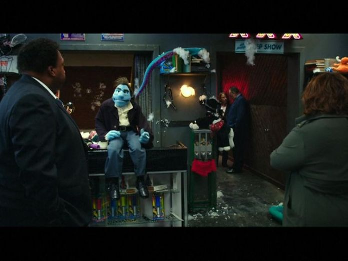 The officers investigate a crime scene in The Happytime Murders Sesame Street sues 'explicit and profane' puppet movie The Happytime Murders Sesame Street sues 'explicit and profane' puppet movie The Happytime Murders skynews sesame street melissa mccarthy 4320669