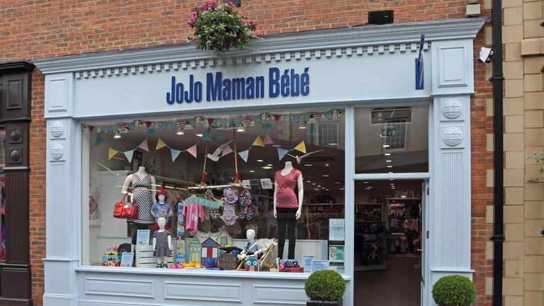 JoJo Maman Bebe backer eyes sale of minority stake | Business News | Sky News