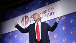 Donald Trump sums up his historic summit with Kim Jong Un  After Korea summit, Kim Jong Un will never be laughed at again skynews donald trump kim jong un 4334011