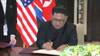 North Korea's Kim Jong Un bolsters nuclear talks hand on China trip North Korea's Kim Jong Un bolsters nuclear talks hand on China trip skynews donald trump summit 4333823