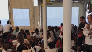 Migrants aboard Aquarius heading for Spain Spain prepares to welcome hundreds of migrants on Aquarius rescue ship Spain prepares to welcome hundreds of migrants on Aquarius rescue ship skynews migrants aquarius spain 4337075