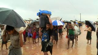 Thousands are being moved to safety  It's still not safe for Myanmar's refugees to return skynews rohingya myanmar burma 4346548