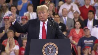 President Trump at  rally in Minnesota