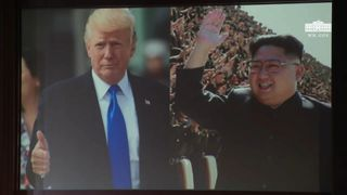 A scene from the video. Pic: White House/Destiny Pictures  North Korea 'deceiving' US as nuclear production 'increases' skynews white house north korea 4334489