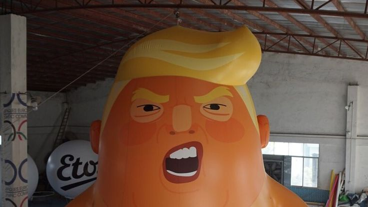 The Trump baby blimp which Leo Murray wants to fly over London