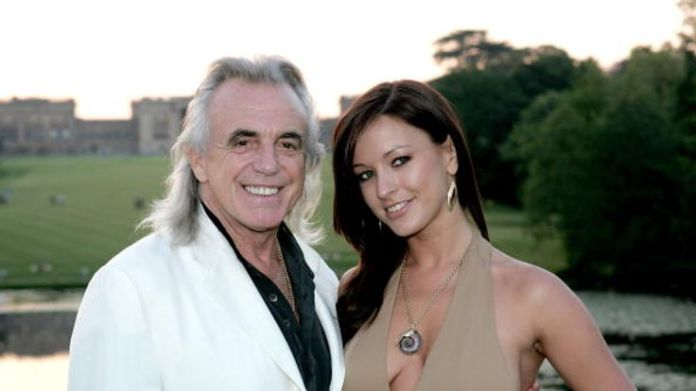 Peter Stringfellow with his wife Bella Wright Stringfellow on sex, Thatcher and Stephen Hawking Stringfellow on sex, Thatcher and Stephen Hawking skynews peter stringfellow 4329885