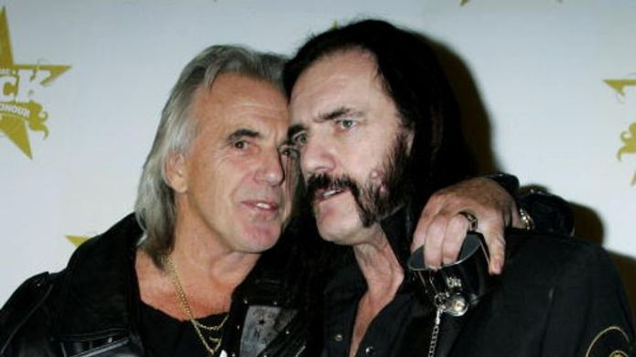 Stringfellow with the Motorhead frontman Lemmy Stringfellow on sex, Thatcher and Stephen Hawking Stringfellow on sex, Thatcher and Stephen Hawking skynews peter stringfellow 4329886