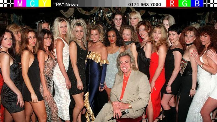 Peter Stringfellow auditioning women for his tableside dancing club in 1996  Stringfellow on sex, Thatcher and Stephen Hawking Stringfellow on sex, Thatcher and Stephen Hawking skynews peter stringfellow 4329905