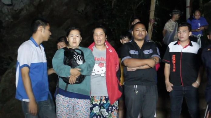 Relatives have been nervously waiting for news at the scene  How the rescue operation unfolded skynews thailand rescue 4344990