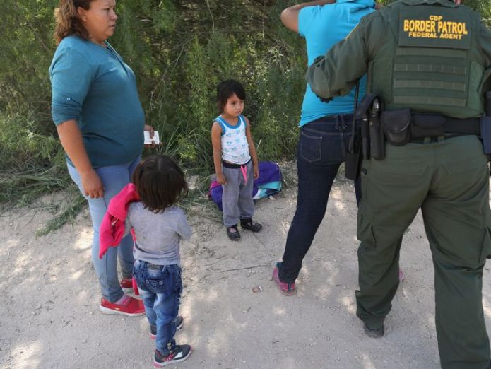 Border Patrol agents take Central American asylum seekers into custody near McAllen, Texas Recording captures children's cries for parents at US border Recording captures children's cries for parents at US border skynews asylum seekers texas border control 4339818