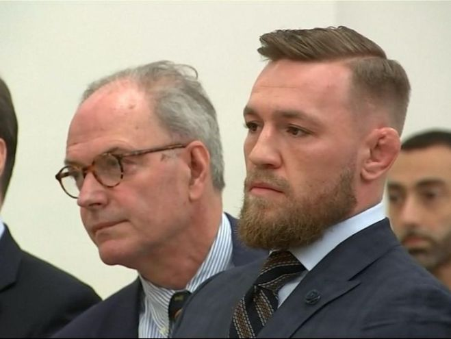 Conor McGregor was only in court for a few moments