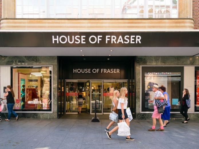 House of Fraser  Debenhams shares slide on credit insurer woes skynews house of fraser shop front 4330116