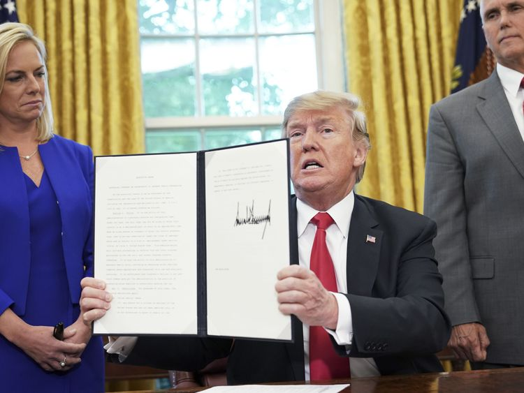 Trump signs execution order