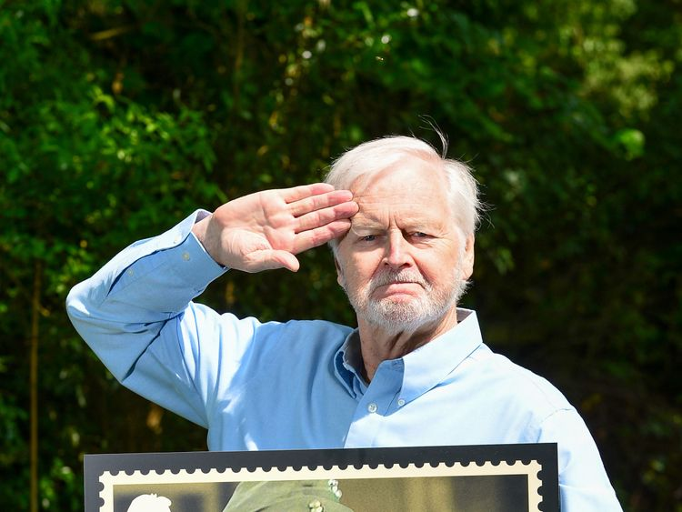 Actor Ian Lavender described being on a stamp as 'overwhelming'