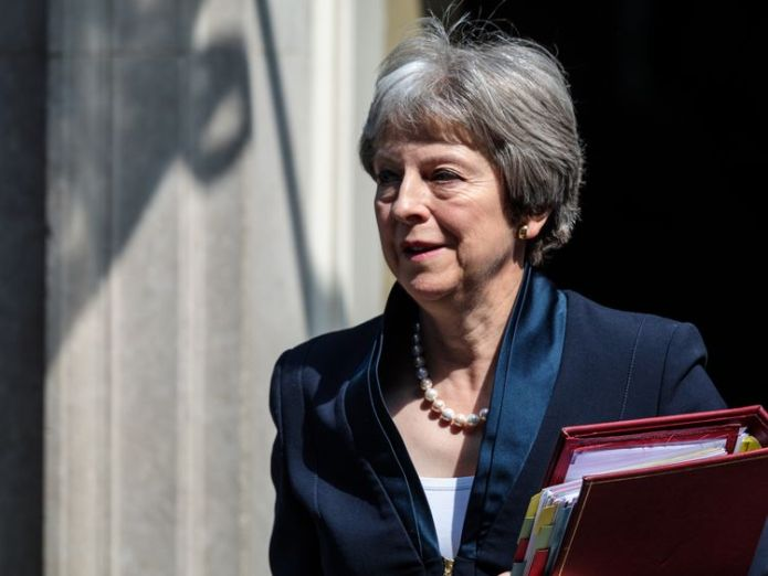British Prime Minister Theresa May Theresa May expresses disappointment over 'unjustified' US tariffs Theresa May expresses disappointment over 'unjustified' US tariffs skynews theresa may prime minister 4325533