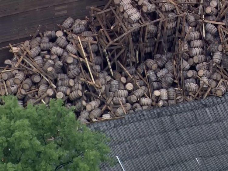 Whiskey warehouse collapse