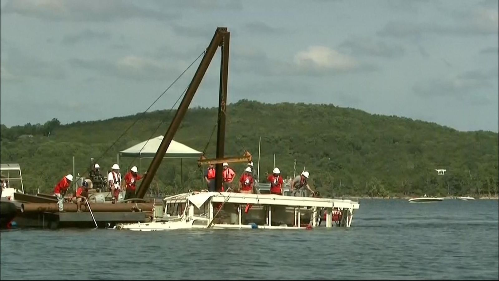 Duck Boat Tragedy: Stricken Vessel Raised To Surface Of
