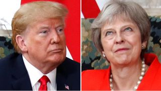 U.S. President Donald Trump and British Prime Minister Theresa meet at Chequers in Buckinghamshire