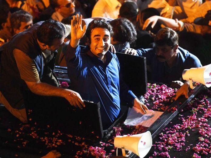 Bilawal Bhutto Zardari  Ex-cricket star Imran Khan could be prime minister skynews bilawal bhutto zardari 4370528