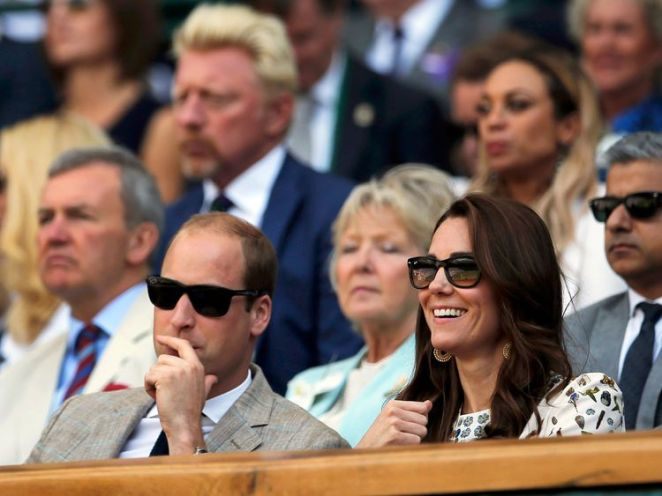 Catherine and William watch centre court action in 2016