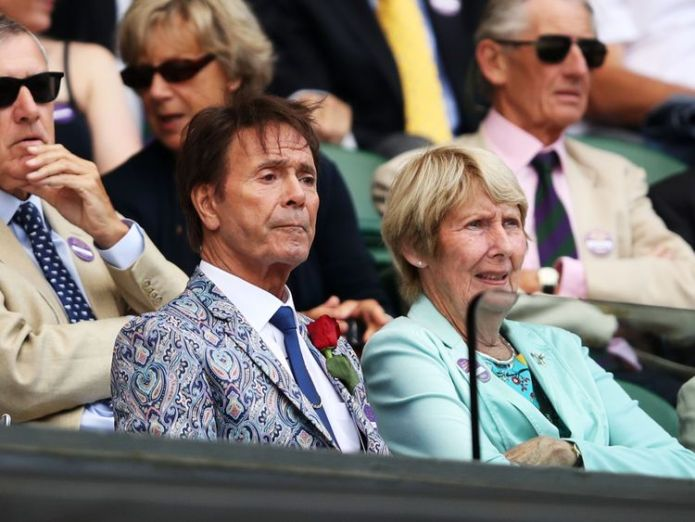 Cliff Richard attended Wimbledon  Sir Cliff Richard to hear judgment in case against the BBC skynews cliff richard bbc 4364790