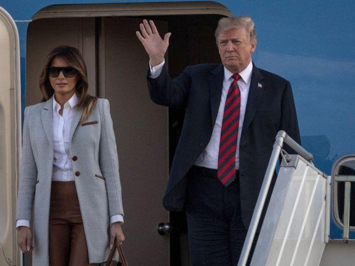 Donald and Melania Trump have arrived in Helsinki  Best and worst-case scenarios as Donald Trump meets Vladimir Putin skynews donald trump melania 4362921