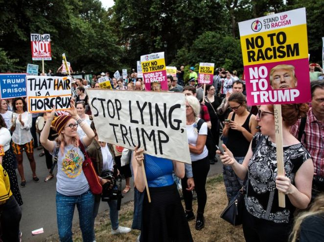 Protesters gathered outside the US ambassador's residence