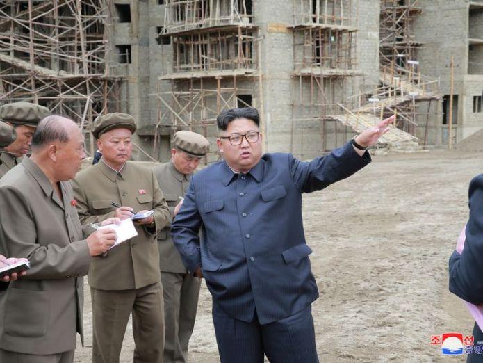 Kim Jong Un inspects a construction site in Samjiyon County  Kim Jong Un snubbed Mike Pompeo for potato farm visit, state media suggests skynews kim jong un north korea 4358481