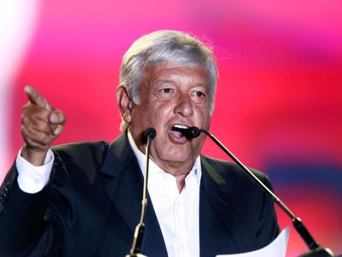 Andres Manuel Lopez Obrador is expected to win the Mexican election  Mexico exit poll: Leftist Obrador has edge skynews manuel lopez obrador 4350216