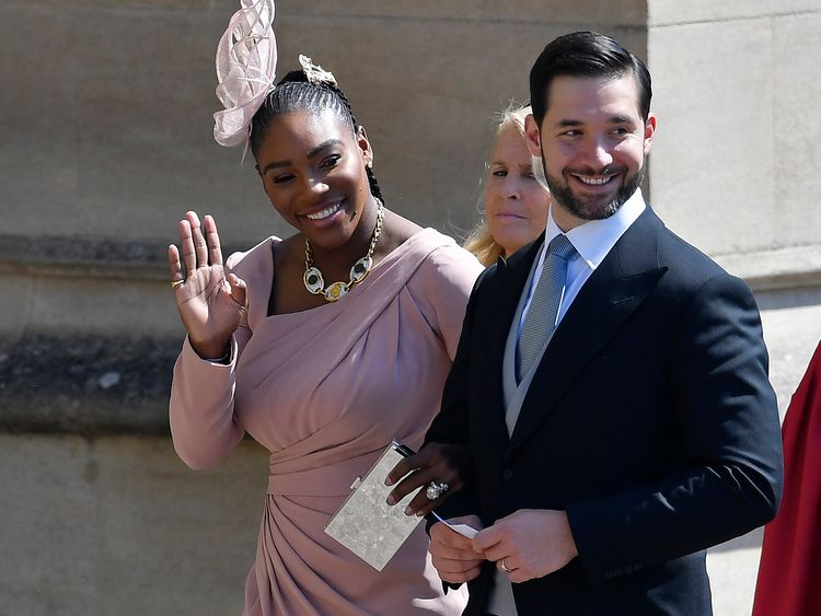 Serena Williams was a guest at the royal wedding