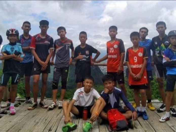 Rescuers searching for 12 missing boys and their football coach say they have all been found alive, officials in Thailand have said.  Major operation underway to divert water from Thai footballers' cave skynews thailand cave boys 4351503