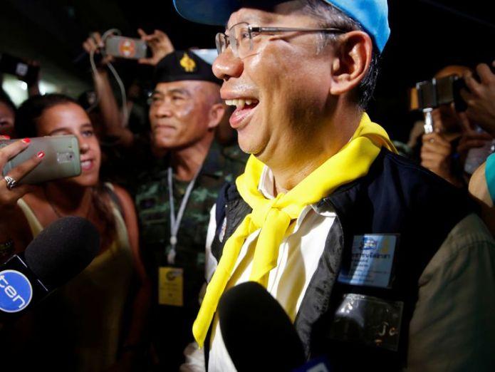 Acting governor of Chiang Rai, Narongsak Osatanakorn, led the operation  All 12 boys and coach safe after Thailand cave rescue skynews thailand narongsak osatanakorn 4358532