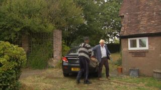 Boris Johnson returns home after making the burka comments