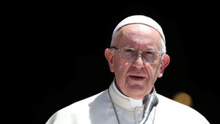 Pope Francis said the church had 'abandoned the little ones'  Popemobile returns to Dublin ahead of Pope Francis visit to Ireland skynews pope francis pope francis 4395703