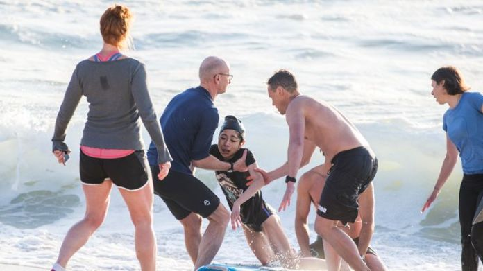 A woman is rescued after being caught in a rip at Bronte Beach  Dramatic rescue of drowning woman captured on camera skynews bronte beach autralia 4406299