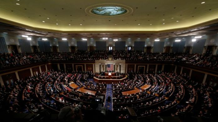 The impeachment procedure starts in the house of representatives   How can a president be impeached? skynews house of representatives 4397811