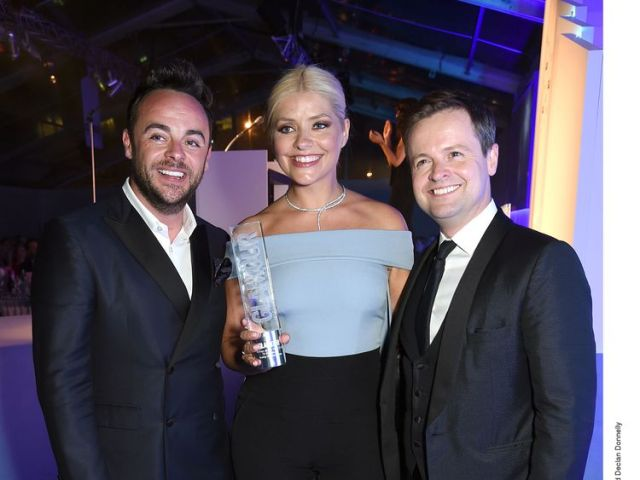 Anthony McPartlin, Holly Willoughby and Declan Donnelly in 2016