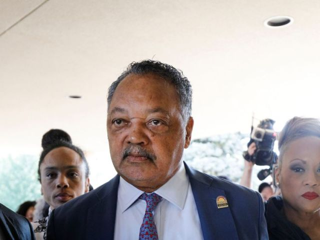 Rev Jesse Jackson at the Greater Grace Temple where he paid tribute to Aretha