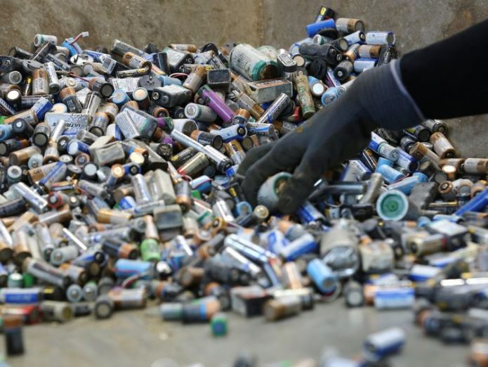Batteries can be recycled but many still end up buried in the ground  Scientists develop biodegradable batteries made out of paper skynews batteries battery 4384850